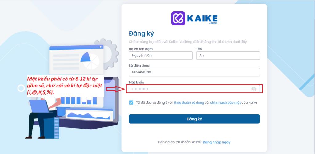 Bước 2 điền thông tin công ty đăng ký