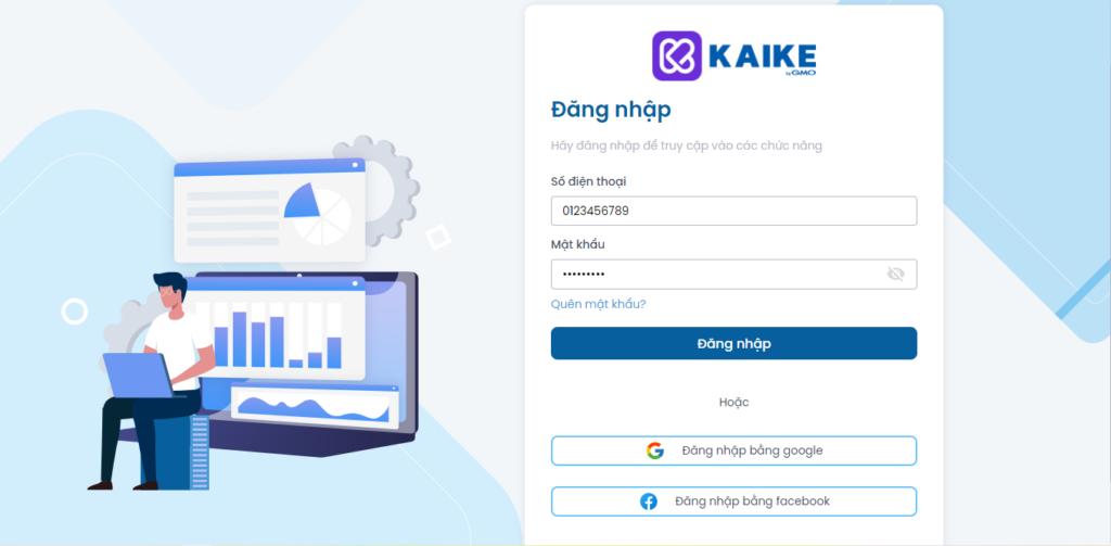 đăng nhập phần mềm kế toán kaike