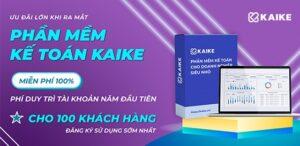 Giá phần mềm kế toán KaiKe - Ưu đãi lớn khi ra mắt